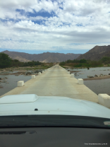 Crossing the Fish River where it flows into the Orange River